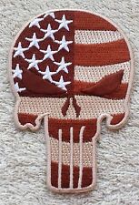 THE PUNISHER PATCH American Flag Cloth Badge Marvel Comics Desert Tan Spiderman