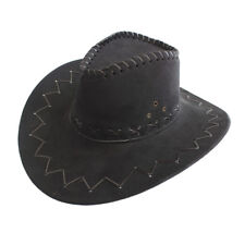 Kids Boys Girls Cowboy Cowgirl Wide Brim Western Cattleman  Fedora Trilby New