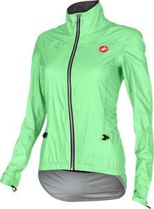 Castelli Women's Donnina eVent Cycling Rain Jacket : Size Small : Green