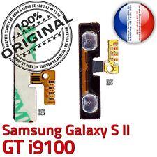 ORIGINAL Samsung Galaxy S2 GT i9100 Nappe Bouton Volume à souder Contacts Dorés