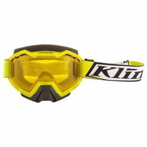 Klim Viper Deviate Hi-Vis Yellow Tint Lens Mens Winter Sports Snowmobile Goggles