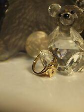 375 YELLOW GOLD LADIES 21 DIAMOND RING / HALLMARKED : 375 - SIZE : M 3/4 !