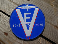 VE Day 75th Anniversary Round Glass Coaster UK Made % of sale to SSAFA  4568