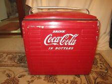 Vintage 1950's Metal Coca Cola Picnic Cooler W/Tray!!!!