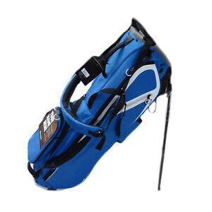 NEW TaylorMade Flextech Lite Yarn Dye Blue/White/Gray 4 Way Golf Stand Bag