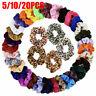 5/10/20pcs Lot Velvet Hair Scrunchies Elastic Scrunchy Ponytail Hair Tie Rope UK