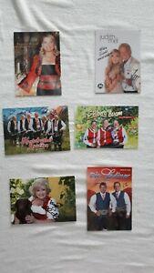 Musik TV Show 6 original handsignierte Autogrammkarten Schlagerlegenden Nr.3