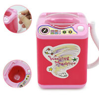 Mini Electric Washing Machine Kid Toy Makeup Brush Sponge Cleaner Blender Washer