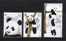 SINGAPORE 2012 GIANT PANDAS COMP. SET OF 3 STAMPS IN MINT MNH UNUSED CONDITION