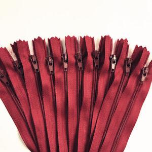 5pcs 35CM-100CM (14-39.5.nch)  nylon coil closed sewing zipper 3# 20 colors