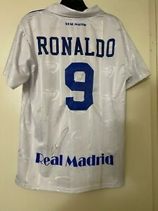 CRISTIANO RONALDO Signed Autograph REAL MADRID Soccer Ball Jersey PSA #AJ23855!