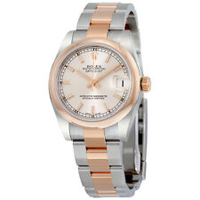Rolex Datejust Silver Dial Steel and 18K Everose Gold Oyster Ladies Watch