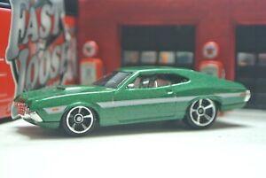 Hot Wheels '72 Ford Gran Torino Sport - Green - Loose 1:64 - Fast & Furious