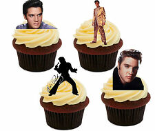 Elvis Presley Pictures Edible Cup Cake Toppers, Standup Fairy Bun Decorations
