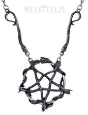 Restyle Snake Pentagram Gothic Occult Jewelry Satanic Pendant Charm Necklace