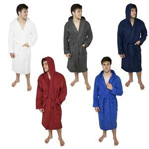 Men's Hooded Bathrobe Terry Cotton Cloth Robe Shawl Collar Men Bathrobe For Mens