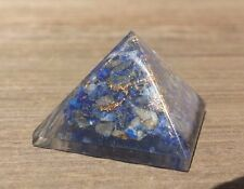 SMALL (25-30mm) LAPIS LAZULI ORGONE GEMSTONE PYRAMID ORGONITE