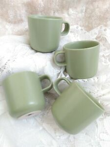 Hoganas Keramiks Nilsson Apple Green Coffee Mug SET OF 4