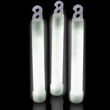 """200 6"""" White Glow Sticks 15mm Bulk Wholesale Pack w/ FREE 100 Glow Bracelets"""