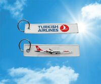 Turkish Airlines Airbus A340 keychain keyring key tag