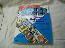 Treat # 201 United States stamp collecting album with new & used stamps hinged