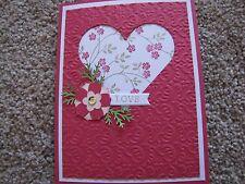 Love Heart with Flowers Wedding/Anniversary/Valentines Handmade Card Kit Lot 4