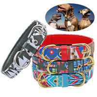 Fashion Soft Leather Padded Dog Collars for Small Medium Large Dog Border Collie