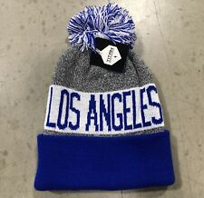 3332bfb031ee6 NWT - Los Angeles Dodgers Team Color Pom pompom Beanie winter hat cap FREE  S