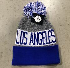 NWT - Los Angeles Dodgers Team Color Pom pompom Beanie winter hat cap FREE S/H !