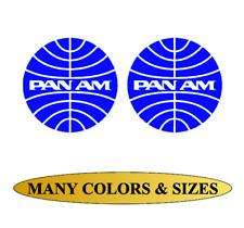 Pan Am American Airlines World Airways Vinyl Sticker Decal Aircraft Wall Window