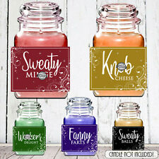 Novelty Birthday Xmas Gift Candle LABEL / STICKER Rude Funny Mum Sister Friend