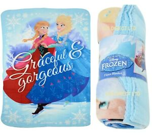 Kids Girls Official Disney Frozen 2 Character Soft Fleece Blanket Throw NEW UK