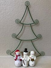 Christmas Tree with Snowmen Cardholder Height 12.5 inches  - NEW