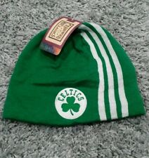 New Adult NBA Boston Celtics Logo Green with White Stripes Winter Beanie-PMJS