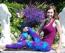 Purple Tie Dye Yoga and Fitness Leggings Cotton/Span Sizes XS-6XL inc Plus Sizes