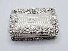 More details for antique william iv sterling silver vinaigrette fully hallmarked john bettridge