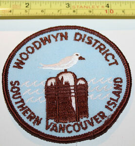 Girl Guides Woodwyn District Southern Vancouver Isle BC Canada Badge Label Patch