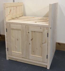 Pine Traditional Style 2 Door Belfast Kitchen Base Unit 600mm wide