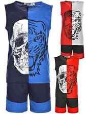 Shorts Capri kurze Hose Set Tanktop T Shirt Shirts 2tlg Jungen Outfit 30304