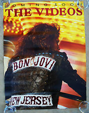 BON JOVI  -  NEW JERSEY:  THE VIDEOS -  ORIGINAL ROLLED ROCK PROMO POSTER (1989)