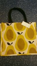 NEW ORLA KIELY PEAR PRINT JUTE SHOPPING BAG FROM TESCO Limited Design BNWT
