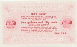 Niederlande 2,50 Gulde Schiffsgeld Netherlands East Indies Rotterdam Lloyd