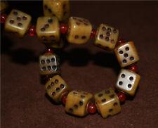 old tibetan genuine dice amulet antique kapala mala prayer beads talisman tibet
