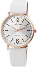 Adrina Damen Armbanduhr 41mm Armband Uhr Weiß Rosegold Rose Gold Watch Quarz