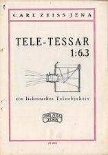Carl Zeiss Jena Prospekt für Tele-Tessar 1: 6,3