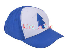Gravity Falls Cosplay Dipper Pines Baseball Hat Canvas Caps Size Adjustable