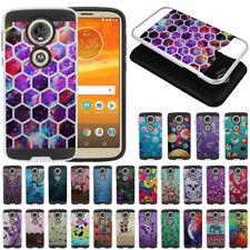 "For Motorola Moto E5 Plus 6"" Dual Layer Anti Shock Brushed Hybrid Case Cover"