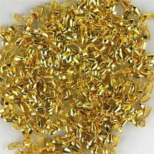 30pcs Gold Plated Copper Pendant Pinch Flower Bails Connector Clasps H-GZK