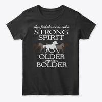 Older Stronger Horse Rider Gildan Women's Tee T-Shirt