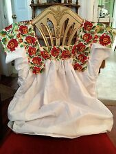 NEW Boho Chic Blouse Top Oaxaca Chaquira Beaded Floral Romantic Flirty VTG M